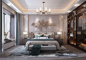 輕奢臥室模型3d模型