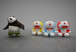 現代風格玩具模型3d模型