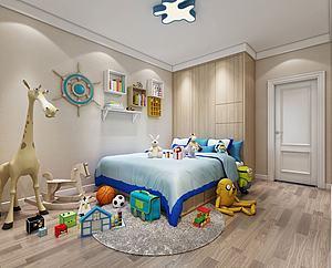 小孩房模型3d模型