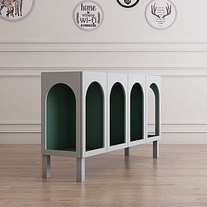 現代儲物柜玄關柜3d模型