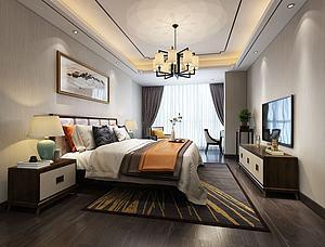 新中式臥室電視柜模型3d模型