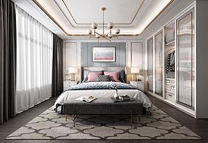 現代輕奢臥室模型3d模型