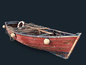 小船模型3d模型