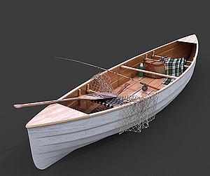 小舟模型3d模型