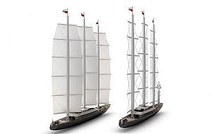 帆船模型3d模型