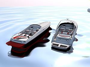 快艇模型3d模型
