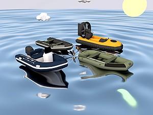 橡皮艇模型3d模型