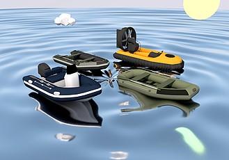 C4D橡皮艇模型