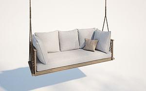 現代戶外搖椅模型3d模型