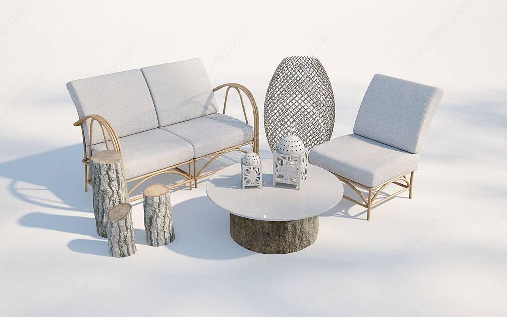 現代戶外沙發椅子