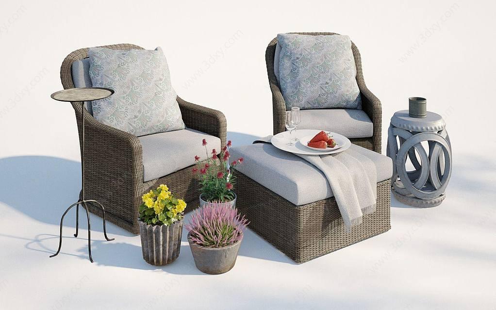 現代戶外庭院休閑椅