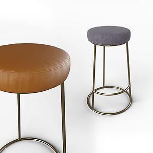 現代休閑面包凳模型3d模型