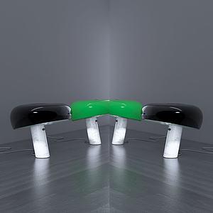 現代坐蓐式臺燈模型3d模型