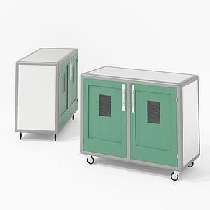 现代储物柜移动边柜模型3d模型