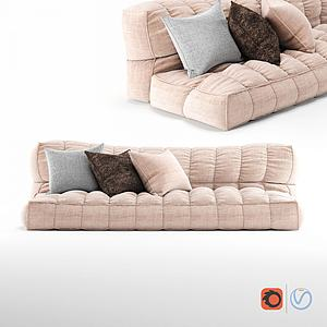 現代榻榻米式懶人沙發抱枕3d模型