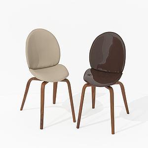 現代蝌蚪椅3d模型