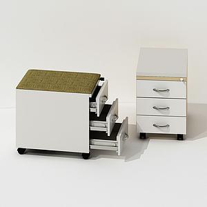 現代邊柜移動咖啡桌3d模型