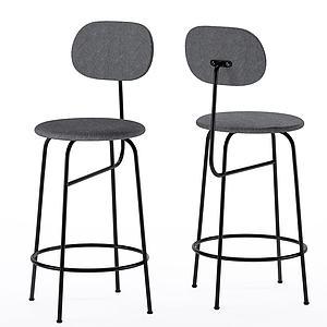 現代高腳椅吧椅休閑椅3d模型