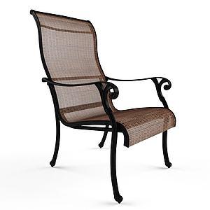 現代鐵藝休閑椅3d模型