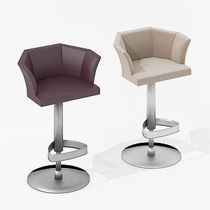 北歐式休閑吧椅3d模型