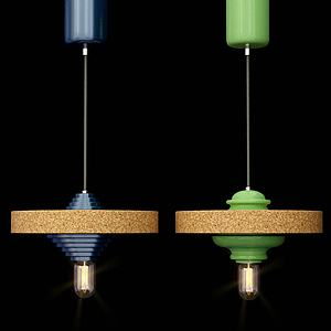 現代陀螺吊燈3d模型