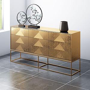 現代裝飾柜玄關柜餐邊柜3d模型