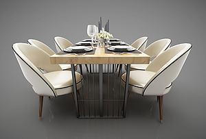 現代風格餐桌模型3d模型