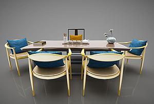 現代風格茶案模型3d模型