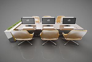 现代风格会议桌模型3d模型