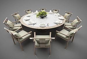 包房餐桌模型3d模型
