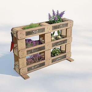 現代植物架3d模型