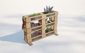 現代植物架模型3d模型