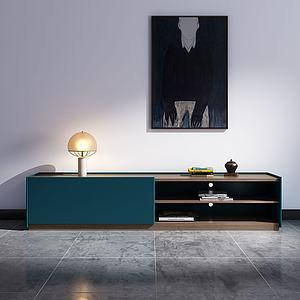 現代簡約電視柜3d模型
