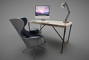 现代风格办公桌模型3d模型
