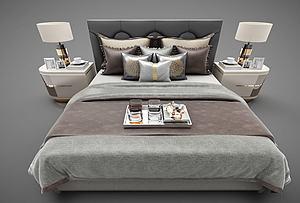 歐式臥室床模型3d模型