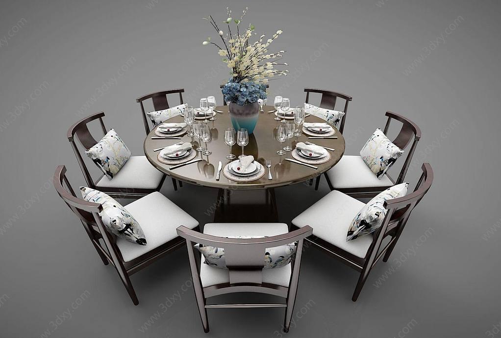 飯店圓形餐桌