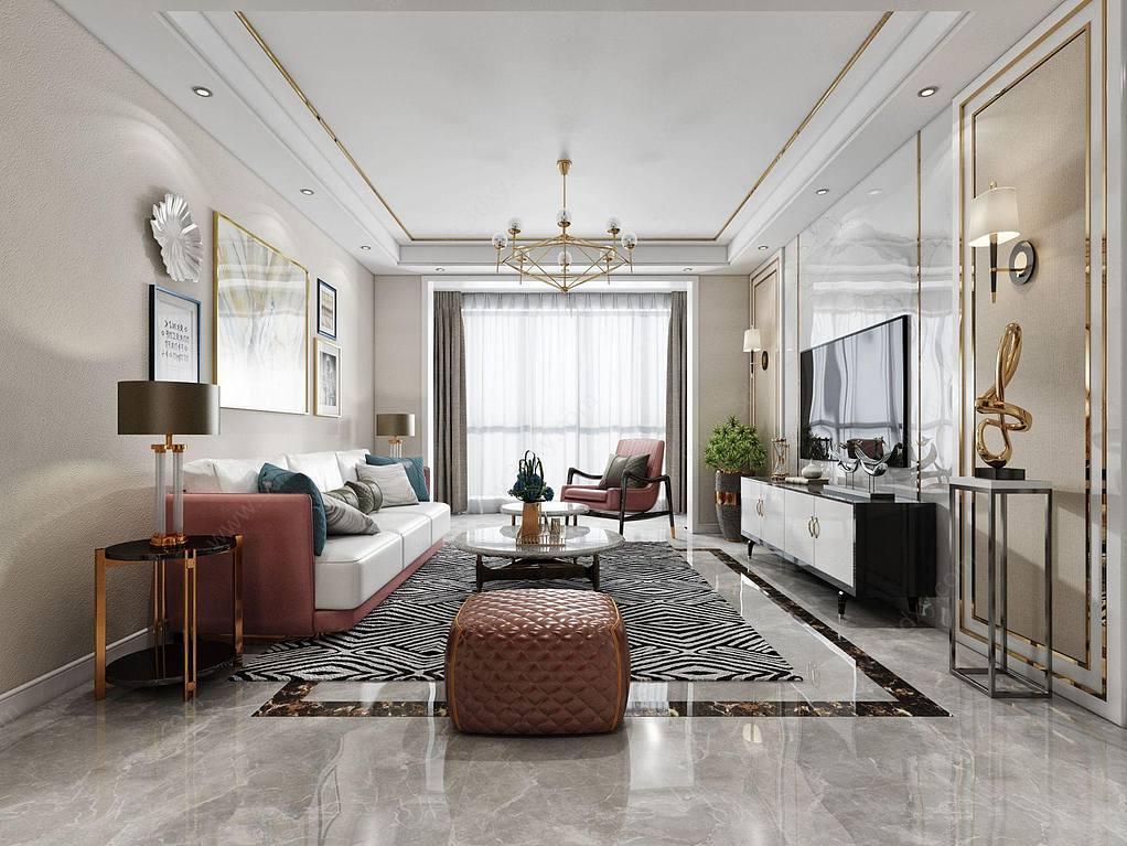 輕奢現代客廳