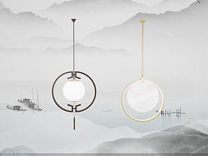 中式吊灯模型3d模型