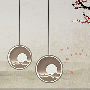 中式燈3d模型
