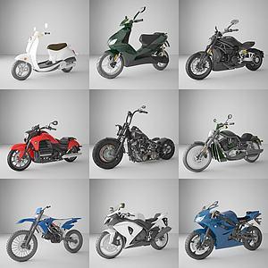 摩托車電動車交通工具模型3d模型