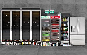 超市冰柜模型3d模型
