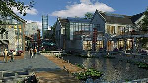 古建商业街模型3d模型