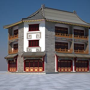 仿古建筑3d模型