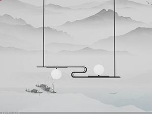 中式燈模型3d模型