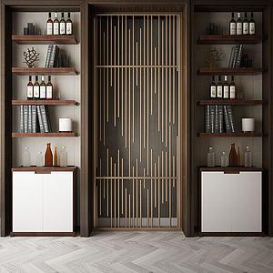 書柜裝飾柜模型3d模型