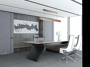 现代办公室模型3d模型