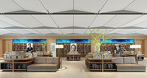 书店模型3d模型