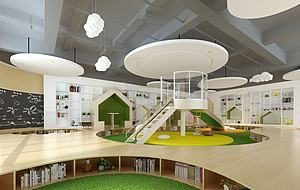 書店模型3d模型