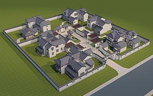 建筑景观模型3d模型
