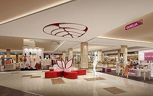 商场模型3d模型